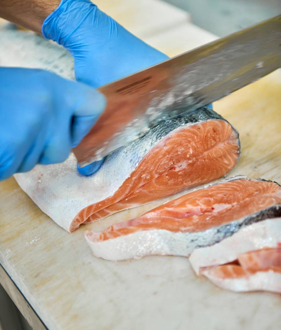 taglio del pesce